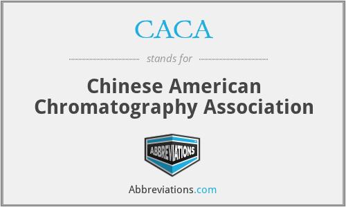 CACA - Chinese American Chromatography Association