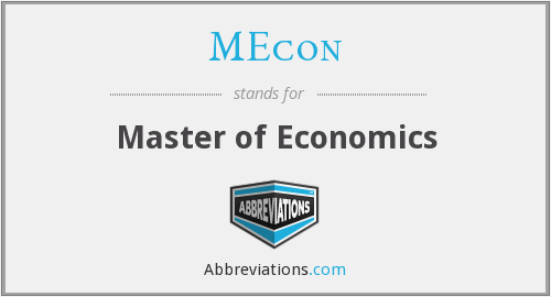 What does MECON stand for?