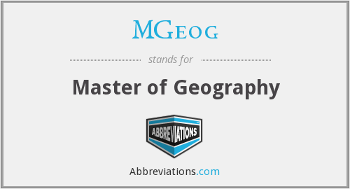 MGeog - Master of Geography