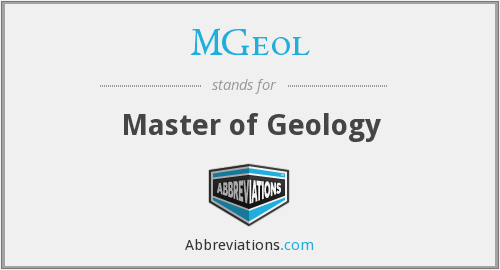 MGeol - Master of Geology