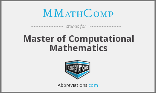 MMathComp - Master of Computational Mathematics
