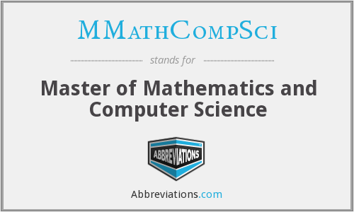 MMathCompSci - Master of Mathematics and Computer Science