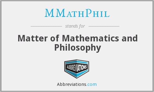 MMathPhil - Matter of Mathematics and Philosophy