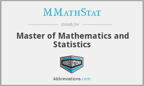 What does MMATHSTAT stand for?