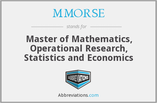 What does MMORSE stand for?
