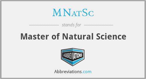 MNatSc - Master of Natural Science