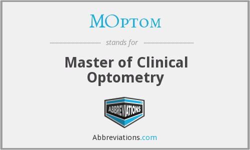 MOptom - Master of Clinical Optometry