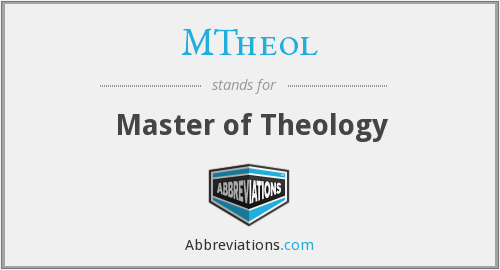What does MTHEOL stand for?