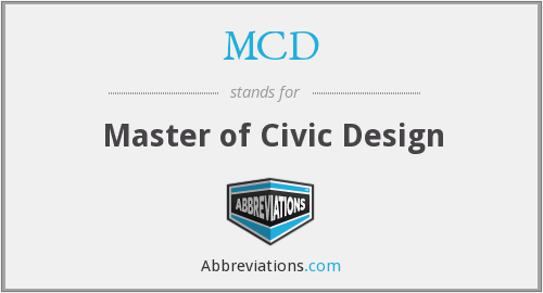 MCD - Master of Civic Design