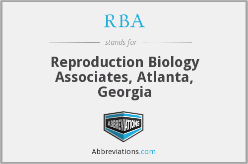 RBA - Reproduction Biology Associates, Atlanta, Georgia