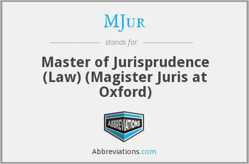 What does MJUR stand for?