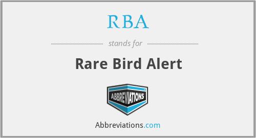 RBA - Rare Bird Alert