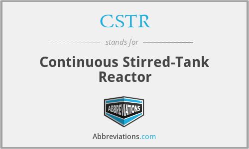 CSTR - Continuous Stirred-Tank Reactor