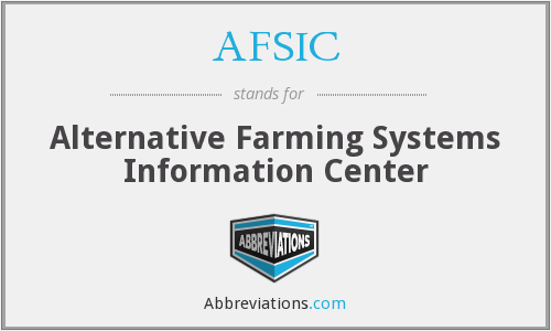 What does AFSIC stand for?