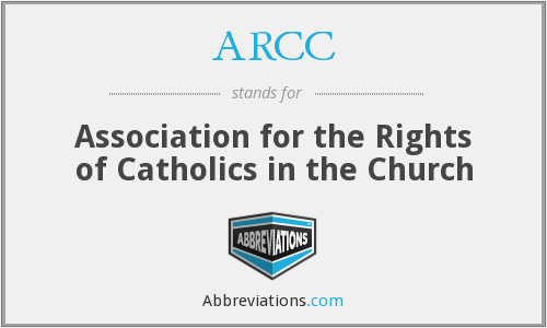 ARCC - Association for the Rights of Catholics in the Church