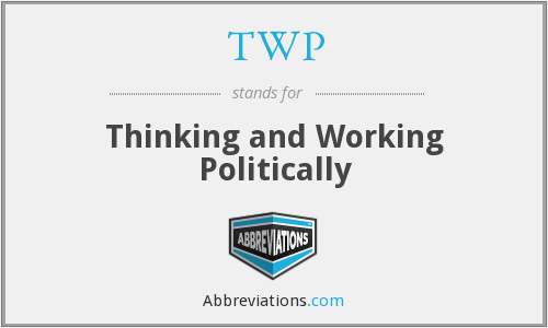 TWP - Thinking and Working Politically