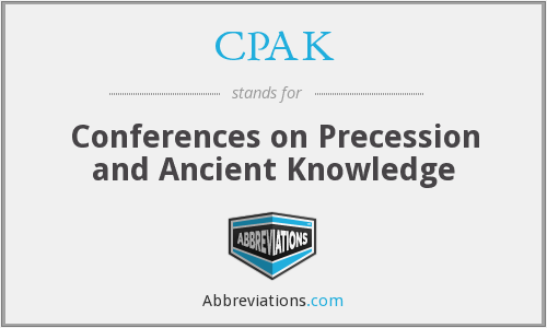CPAK - Conferences on Precession and Ancient Knowledge