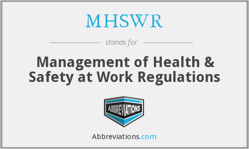 What does MHSWR stand for?