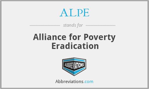 ALPE - Alliance for Poverty Eradication