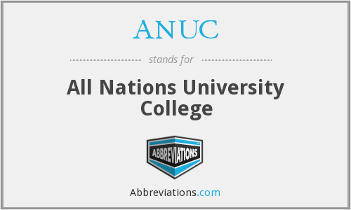 What does ANUC stand for?