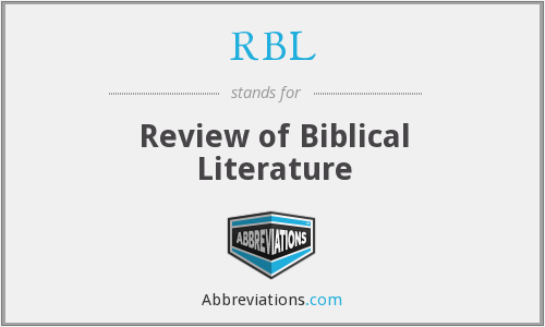 RBL - Review of Biblical Literature