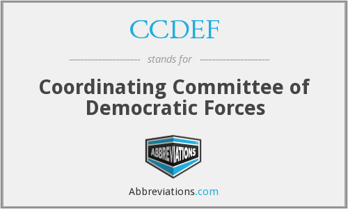 What does CCDEF stand for?