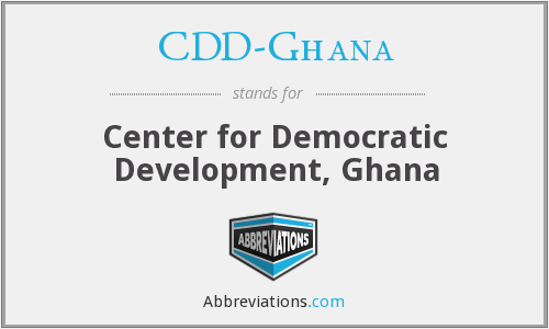 What does CDD-GHANA stand for?