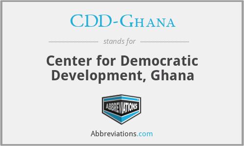 CDD-Ghana - Center for Democratic Development, Ghana