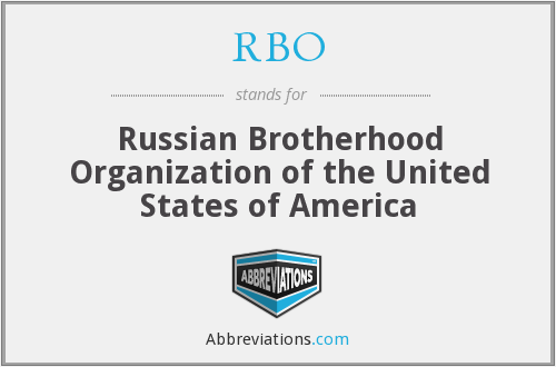 RBO - Russian Brotherhood Organization of the United States of America