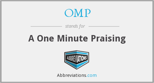 OMP - A One Minute Praising