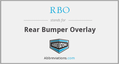 RBO - Rear Bumper Overlay