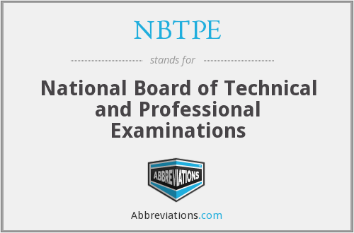 What does NBTPE stand for?