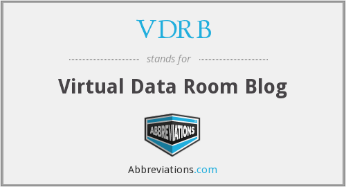 VDRB - Virtual Data Room Blog