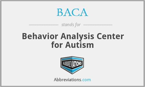 BACA - Behavior Analysis Center for Autism