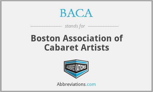 BACA - Boston Association of Cabaret Artists
