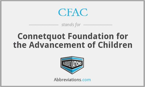 CFAC - Connetquot Foundation for the Advancement of Children