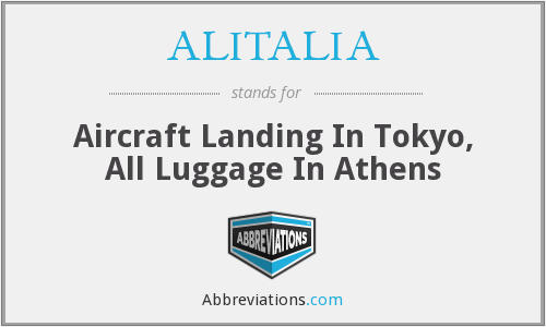 ALITALIA - Aircraft Landing In Tokyo, All Luggage In Athens