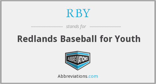 RBY - Redlands Baseball for Youth