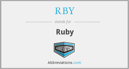 What does RBY stand for?