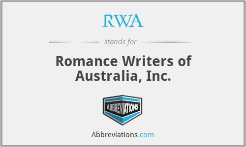 RWA - Romance Writers of Australia, Inc.