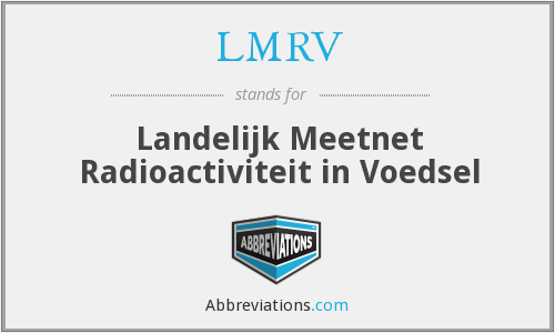 What does LMRV stand for?