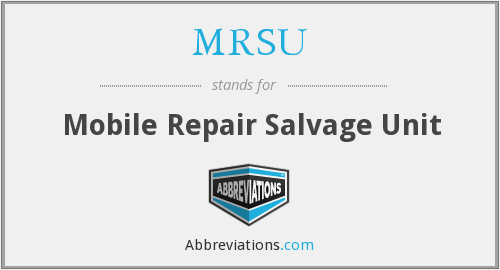 What does salvage stand for?