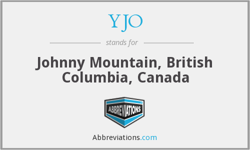 YJO - Johnny Mountain, British Columbia, Canada