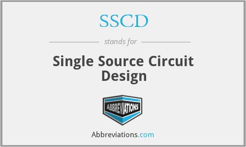 SSCD - Single Source Circuit Design