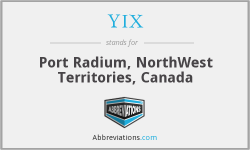 YIX - Port Radium, NorthWest Territories, Canada