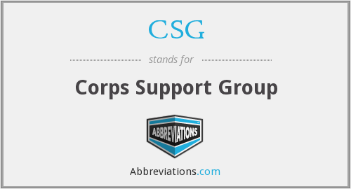 CSG - Corps Support Group