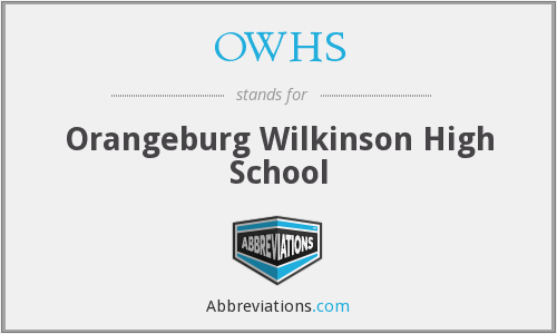 OWHS - Orangeburg Wilkinson High School