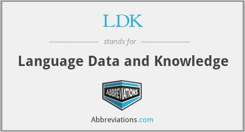 LDK - Language Data and Knowledge