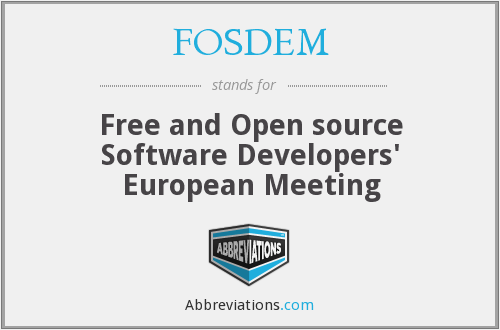 What does FOSDEM stand for?