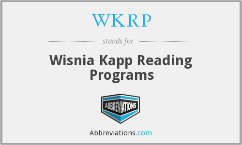 What does WKRP stand for?